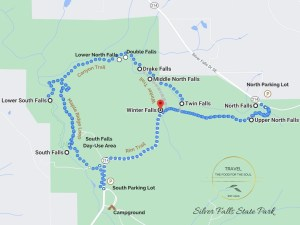 Silver Falls State Park Attractions Map