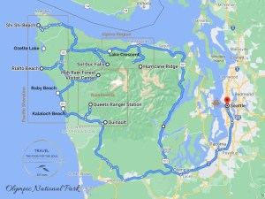Olympic National Park Attractions Map
