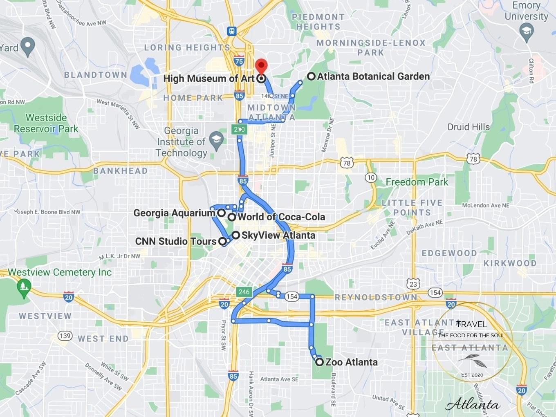 Atlanta Attractions Map