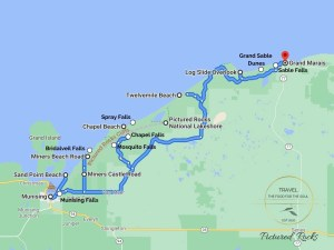 Pictured Rocks Attractions Map
