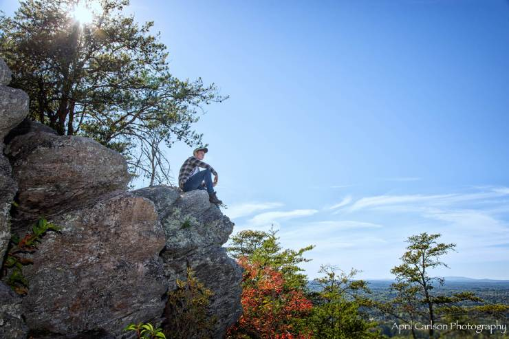 Hiking Indian Seats Trail: View from the top