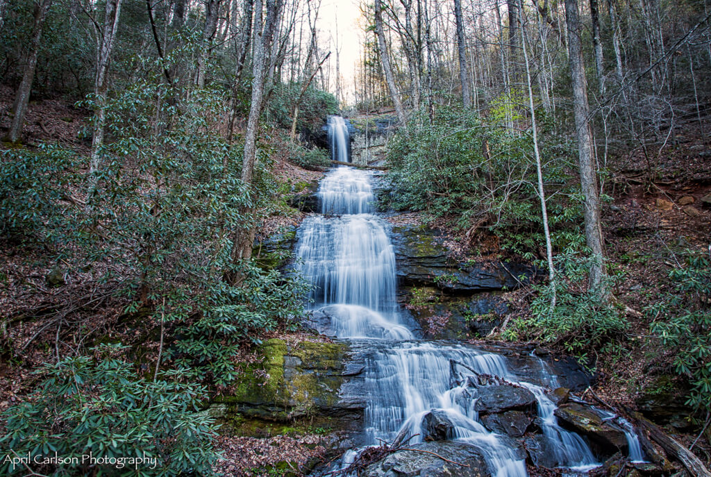 Hiking DeSoto Falls: Upper Falls