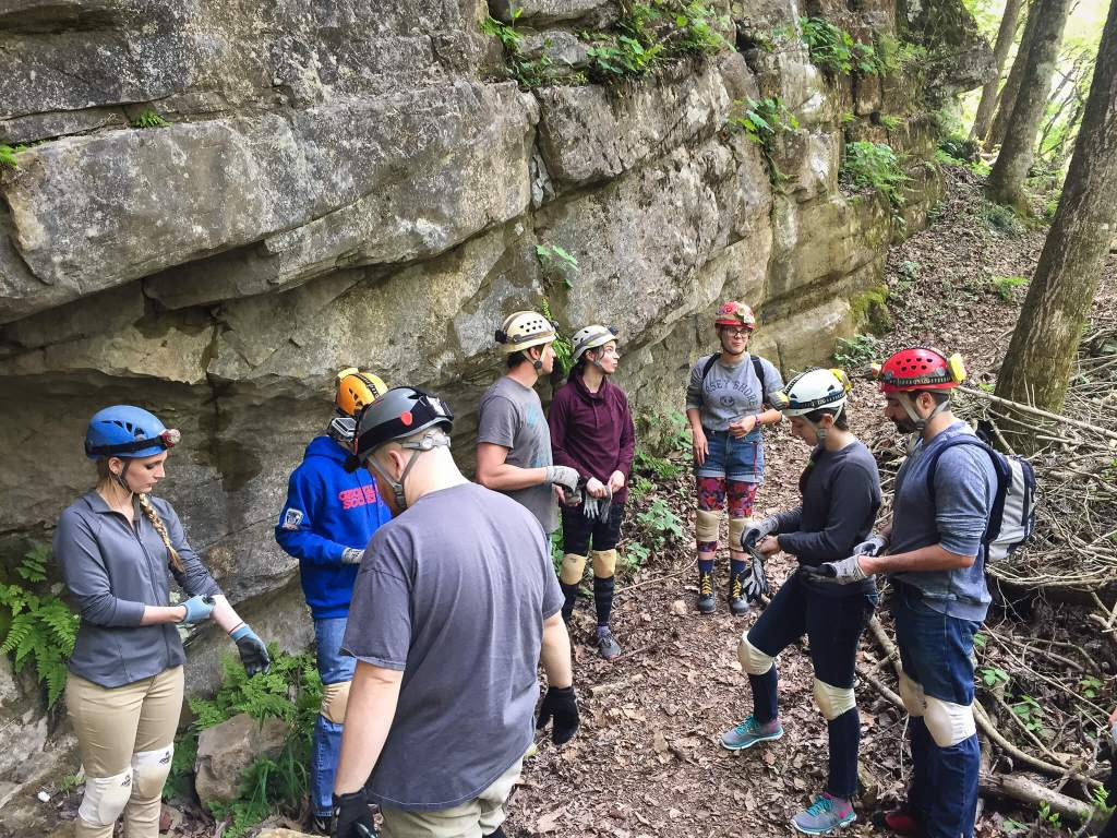 Caving at Cloudland Canyon: Getting Instructions from the Guide