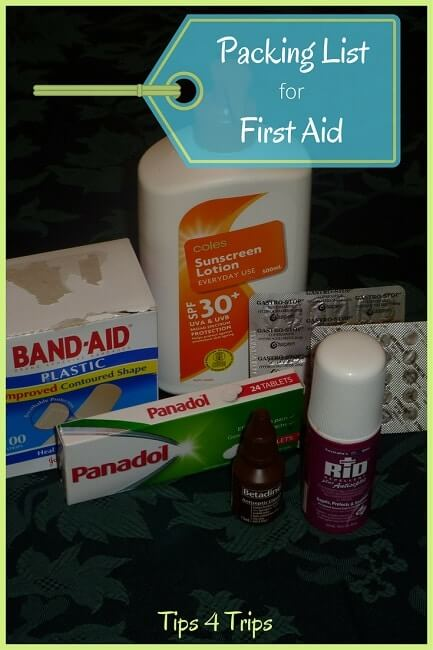 How to create a first aid travel kit   Tips for holiday medical kit   Holiday first aid List   vacation medical kit