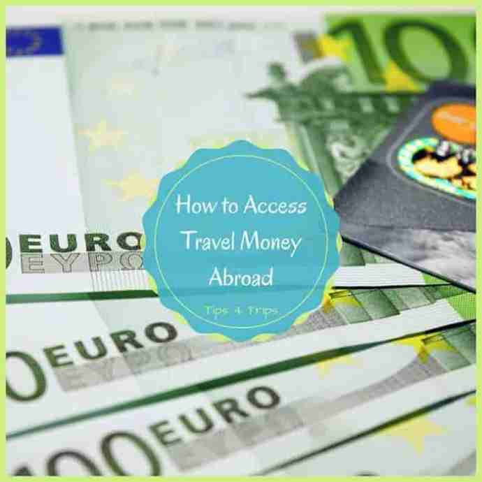 Travel tips and ideas on how to take holiday money overseas when you travel on a vacation. The pros and cons for 4 ways to access travel money abroad.