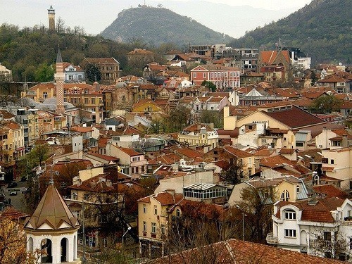 View from Nebet Tepe in Plovdiv