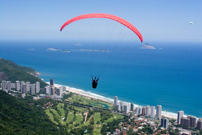 Pragliding over Rio de janeiro