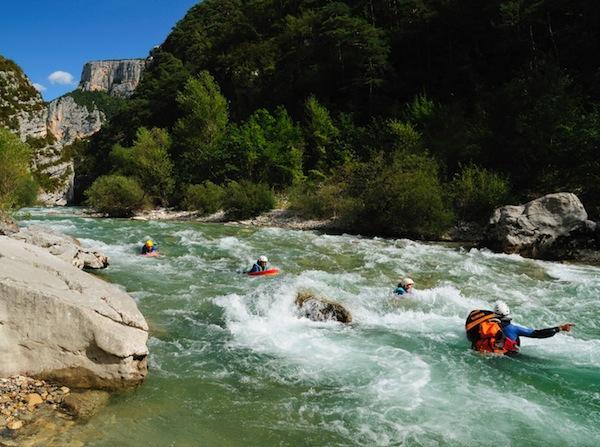 Hydrospeed in Verdon Gorge