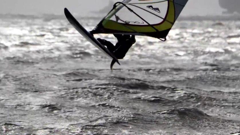 Windsurfing At Treasure Island, San Francisco