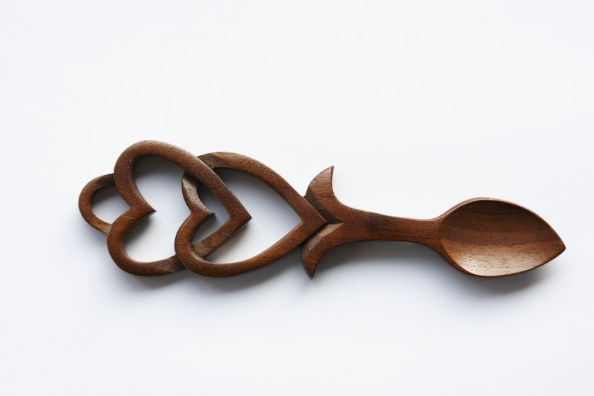 wales carved love spoon