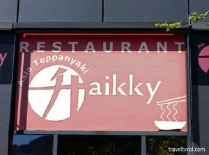 Haikky Asian Buffet restaurant in Innsbruck.