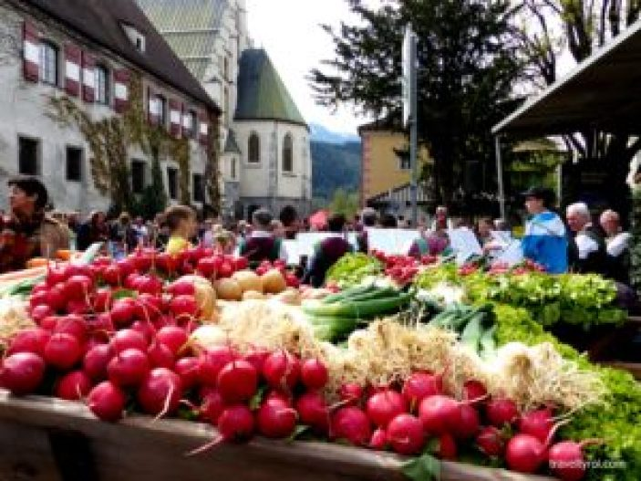 Radish festival in Hall in Tirol.