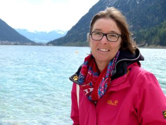Karin Robertson next to the Achensee.