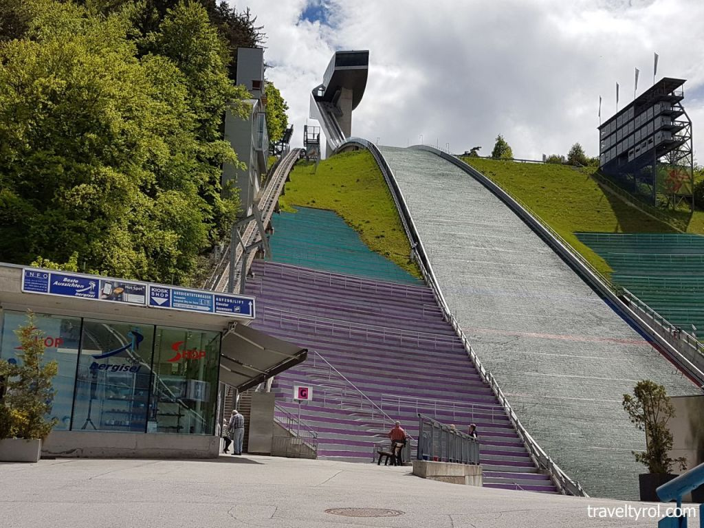 Bergisel ski jump in Innsbruck in Summer.