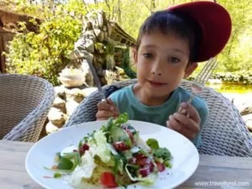 Mixed salad at Martin's Bistro, Achenkirch.