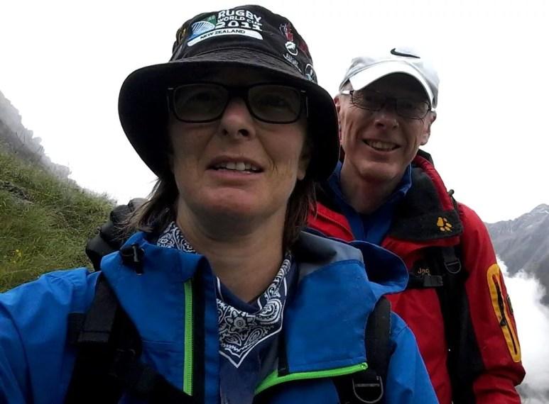 Karin Robertson and Ian Calvert on the Stubai Höhenweg.