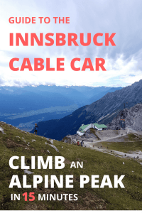 Guide to the Innsbruck Cable Car in Tyrol, Austria