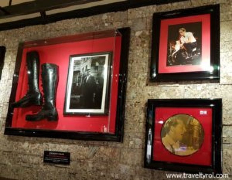 The boots of Johnny Cash at Hard Rock Cafe Innsbruck