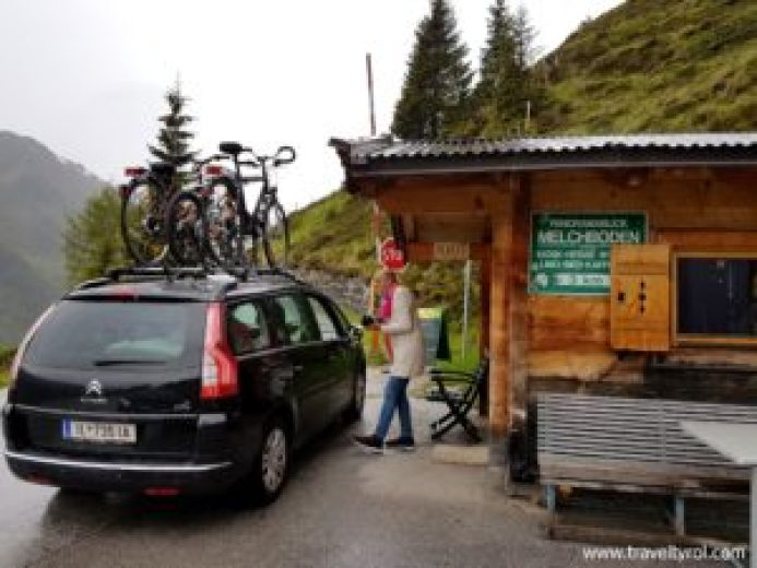 Toll station or mautstelle on the Zillertal High Alpine Road or Höhenstrasse.