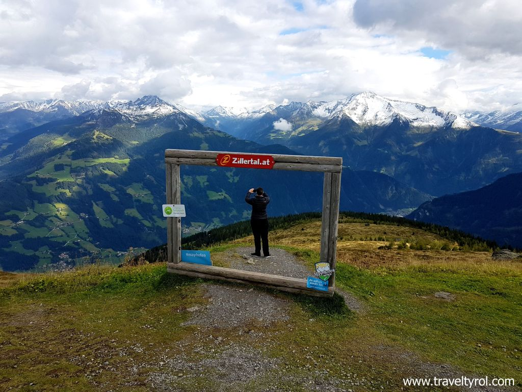 Melchboden viewpoint on Zillertal High Alpine Road.