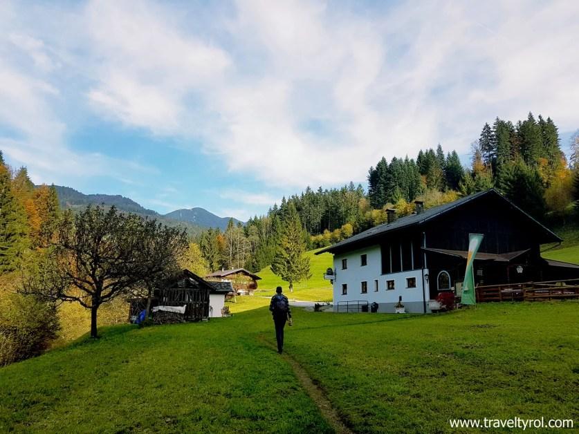 The Jausenstation Tiefenbachklamm on the hike in Austria.