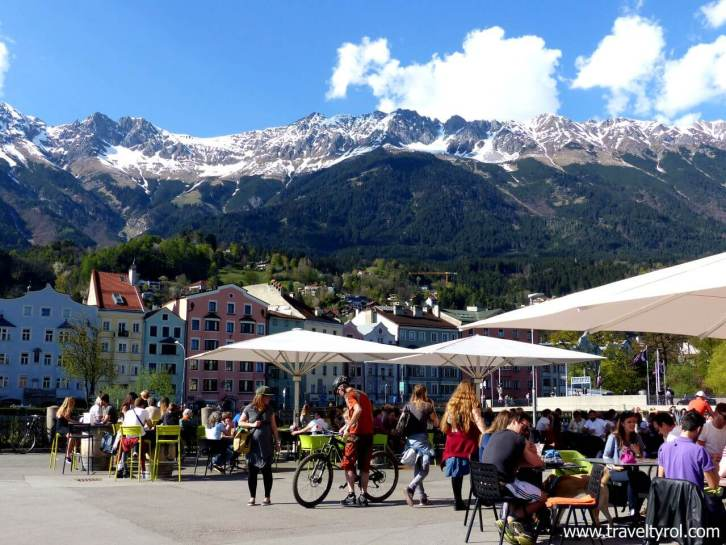 Innsbruck market square, a good place to end your Innsbruck sightseeing. Travel Tyrol.