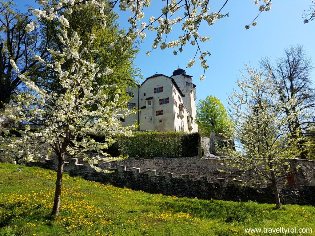 Friedberg Castle on historic circular trail in Austria.