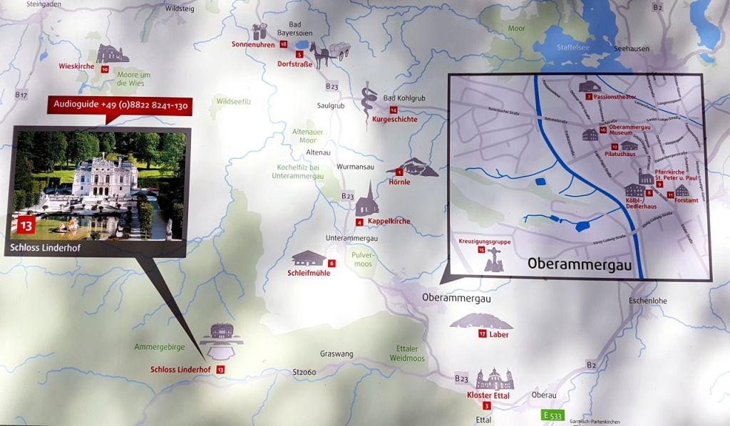 Linderhof Palace map