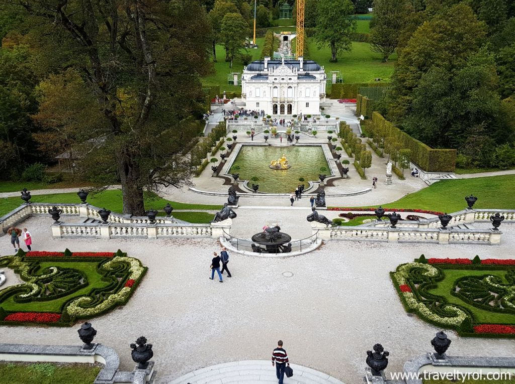 Linderhof Palace and park.
