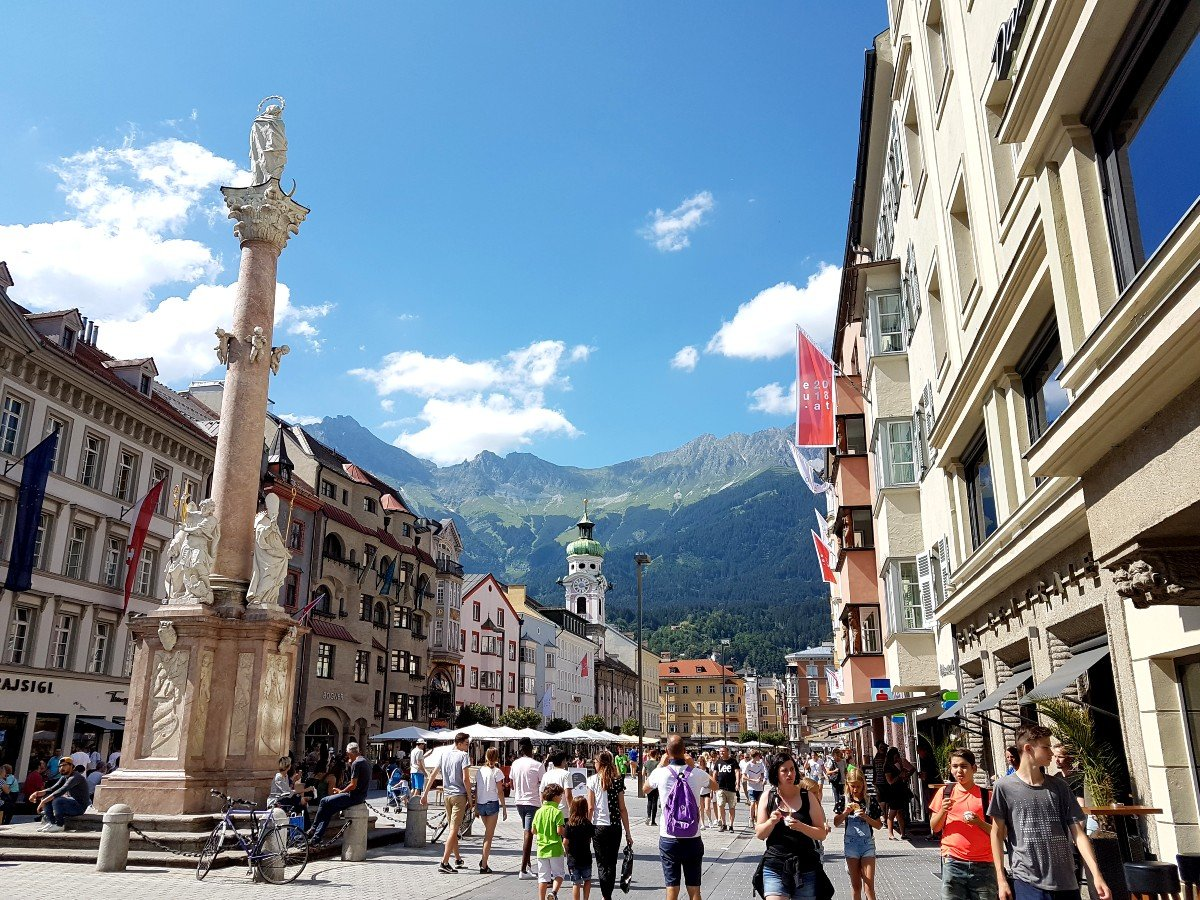 With its mountain backdrop, Innsbruck is one of the most beautiful cities in Austria.