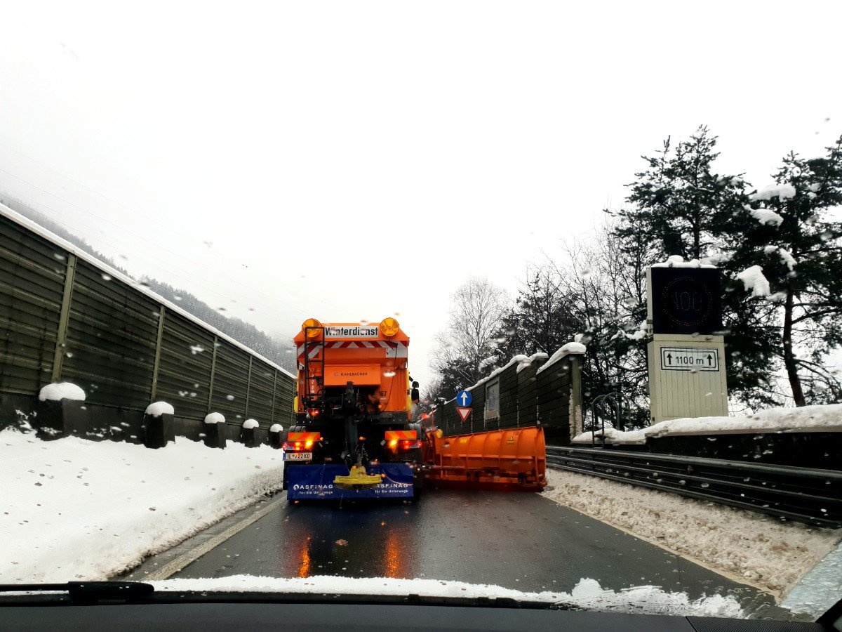 Driving in Austria in winter can be challenging.