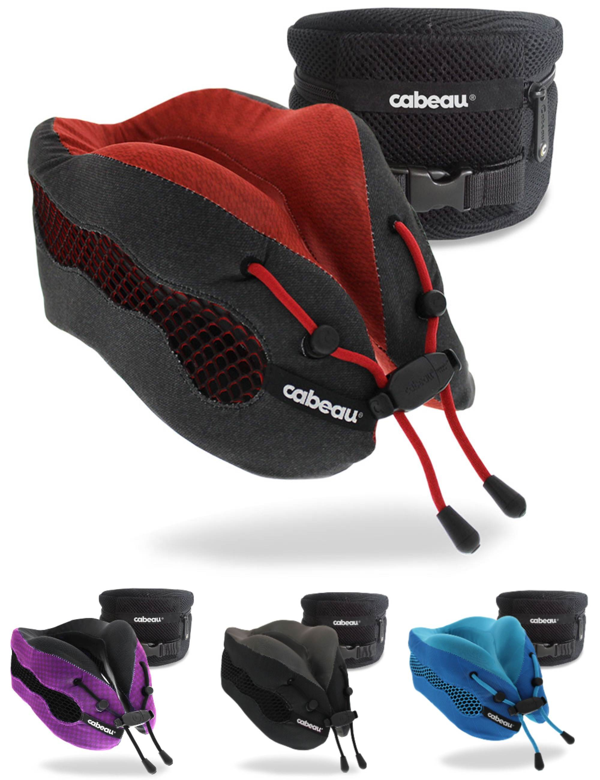cabeau evolution cool 2 0 memory foam travel pillow with ear plugs and carry bag