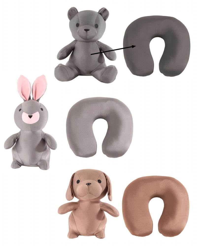 samsonite convertible animal travel pillow available in 3 designs