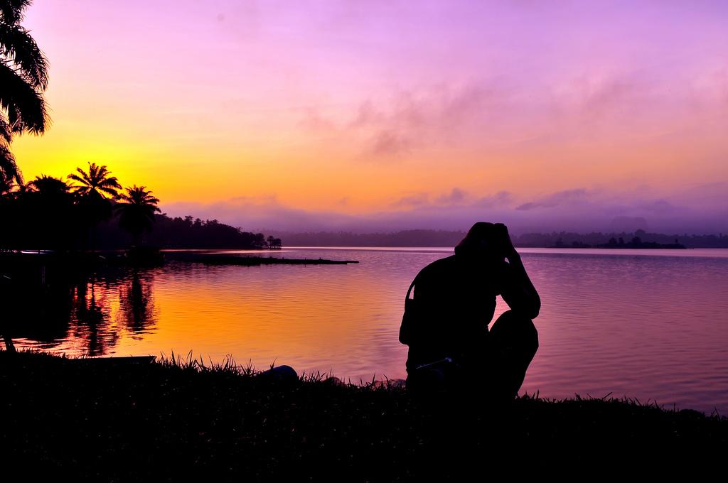 Sunrise over Lake Kenyir, Malaysia
