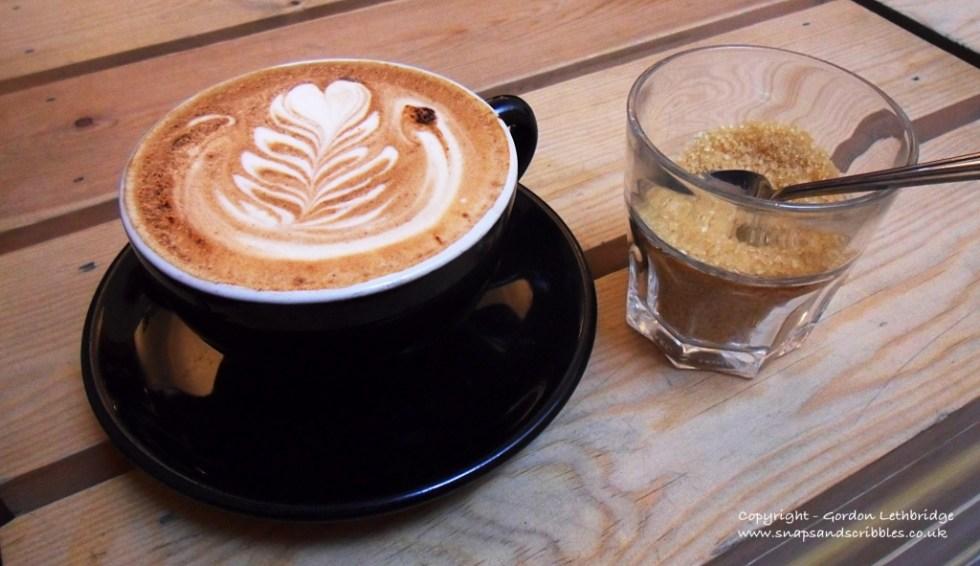 A mocha at Kaffeine