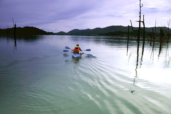 Kayaking on Lake Kenyir takes you to parts others cannot reach