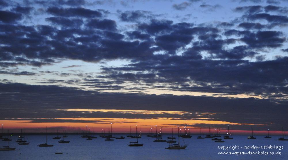 Darwin sunsets - blue