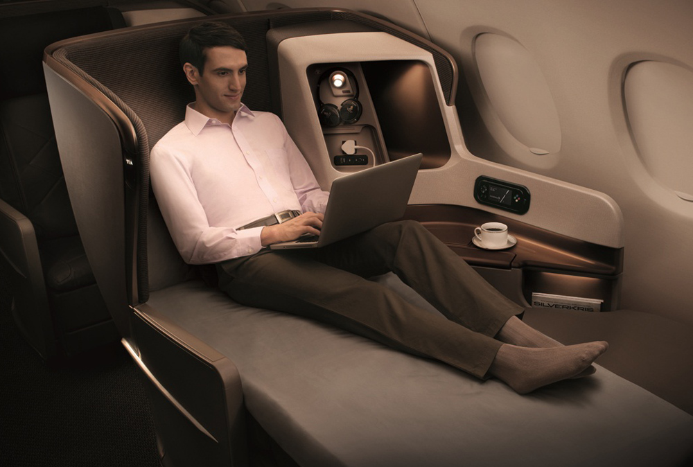 Business Class seating © Singapore Airlines