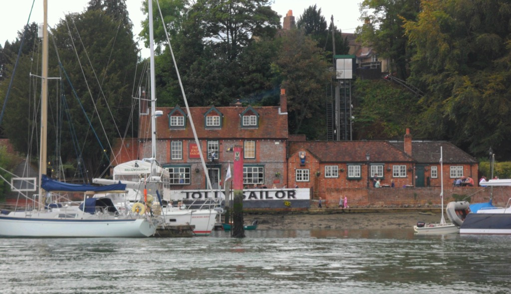 "The Jolly Sailor opposite the ""hard"" where our journey begins © Gordon Lethbridge 2014"