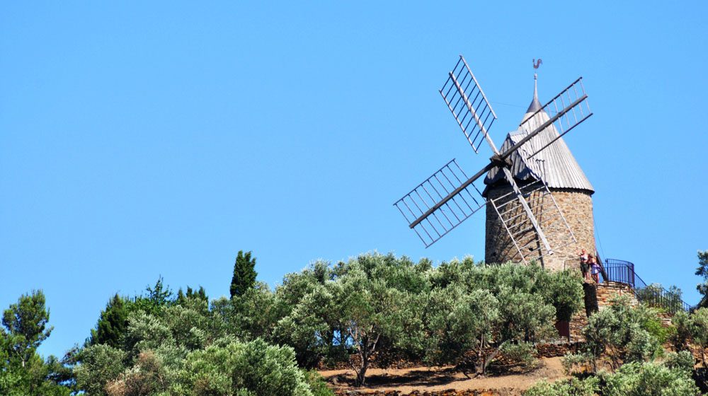 The windmill on the hill overlooking Collioure