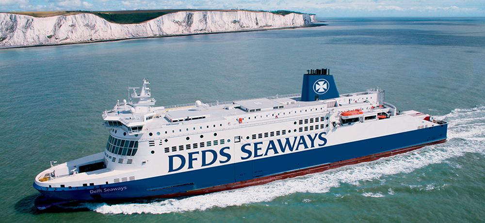 DFDS Seaways operates on several routes to Europe from the UK