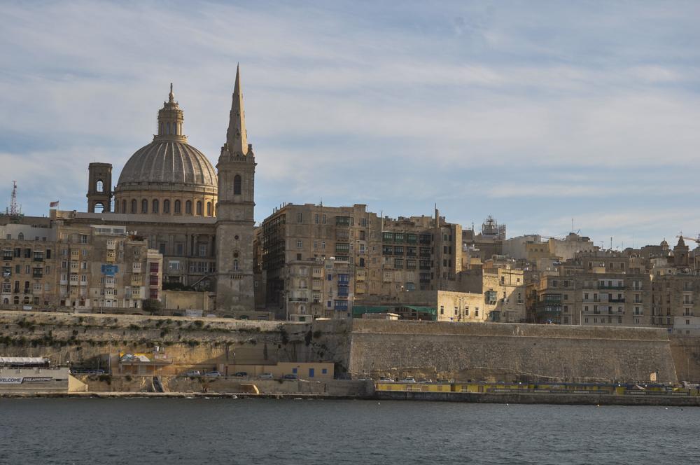 Approaching Valletta from Sliema