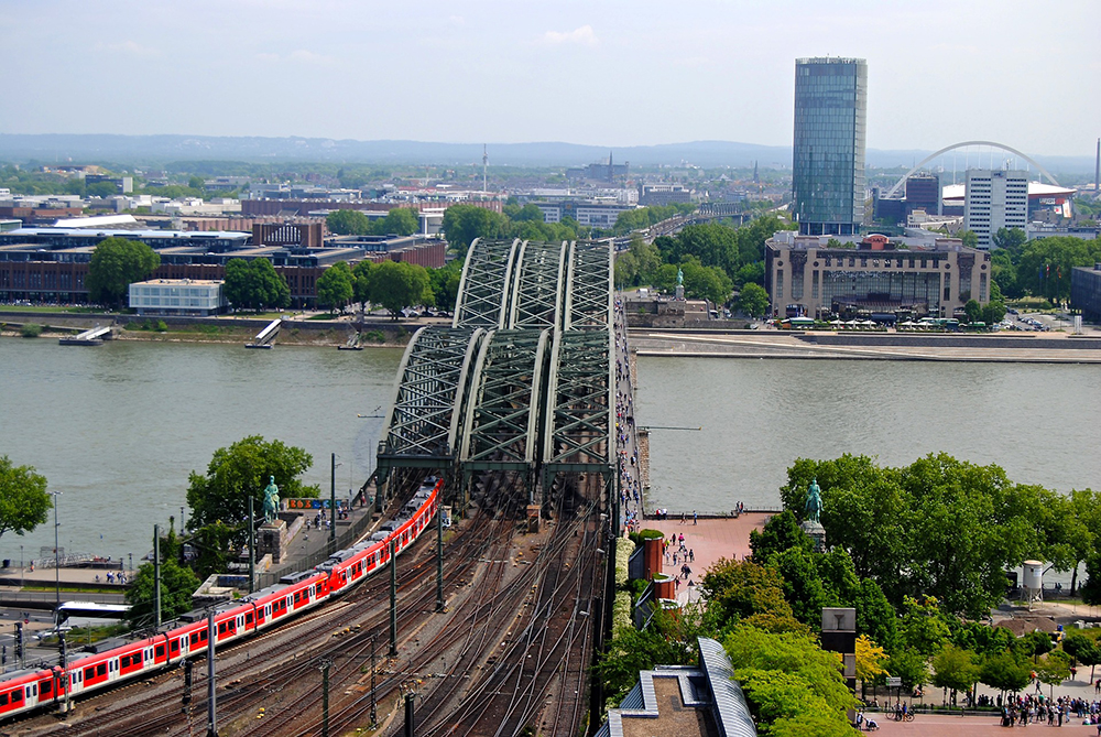 Hohenzollern Railway Bridge, Cologne