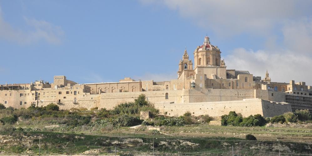 The walled city of Mdina, Malta