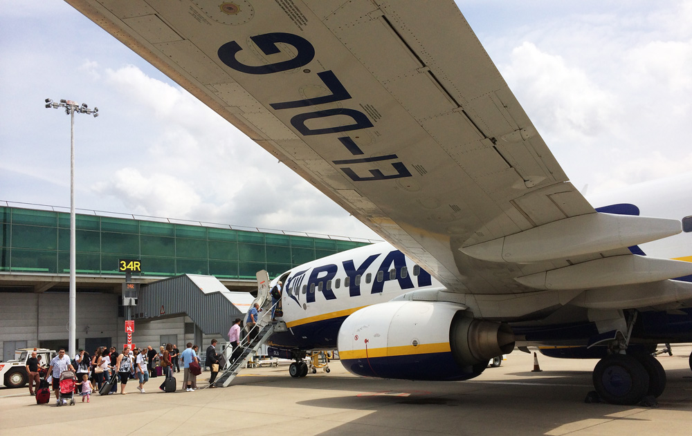 Ryanair at the airport