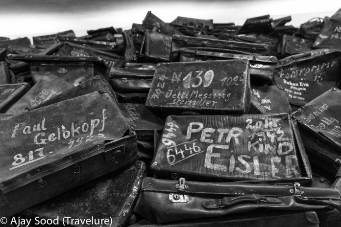 Haunting Photographs of Auschwitz Memorial Camp Prisoner's suitcases - WW-II Holocaust