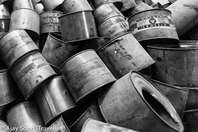 Haunting Photographs of Auschwitz Memorial Camp Zyklon B Poison Gas Empty Cans - WW-II Holocaust