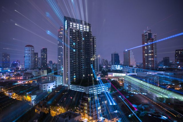 A Zoom-Burst of Bangkok Skyline