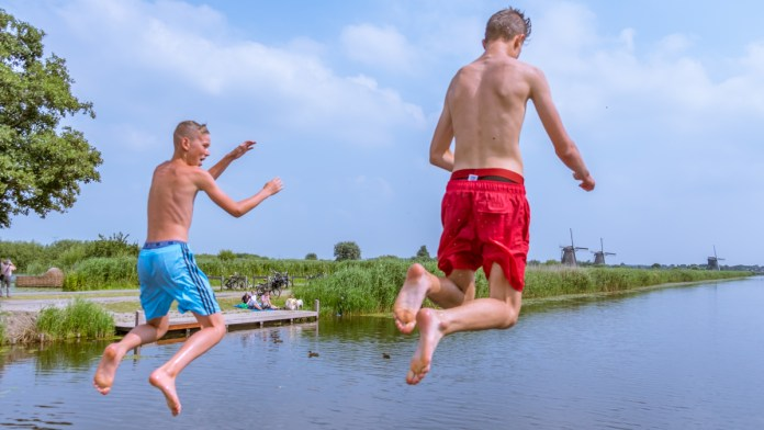 A routine for resident kids of Windmills of Kinderdijk