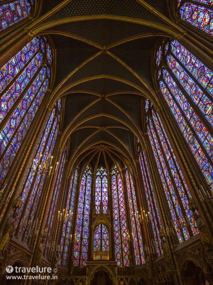 View of Sainte Chapelle Interior in Paris Instagram Roundup